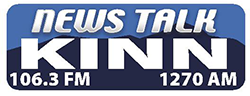 News Talk KINN 106.3FM – 1270AM Retina Logo